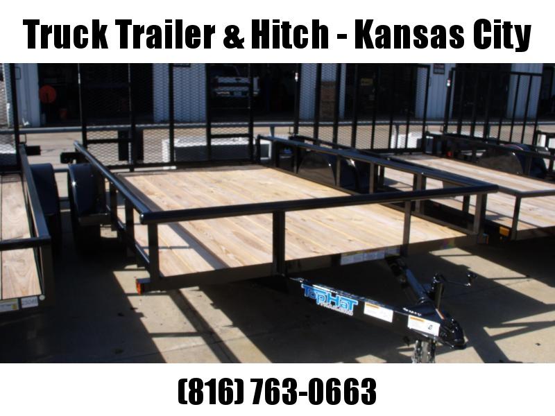 Utility Trailer 83 x 12    Pipe Rail Top  Rear   Gate 2990 Axle