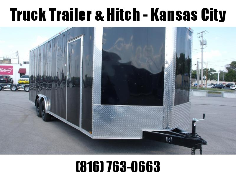 Enclosed Trailer 8.5 X 24  Dove Ramp 7' Black  In Color Ramp Door  9990  GVWR