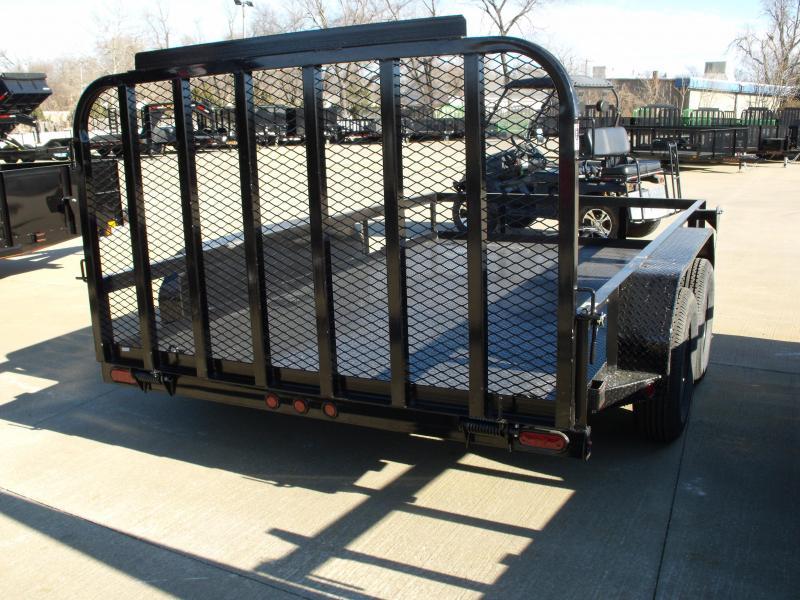 Utility Trailer  83 X 12  Metal Deck With Tube Ramp    7000 GVW Brakes
