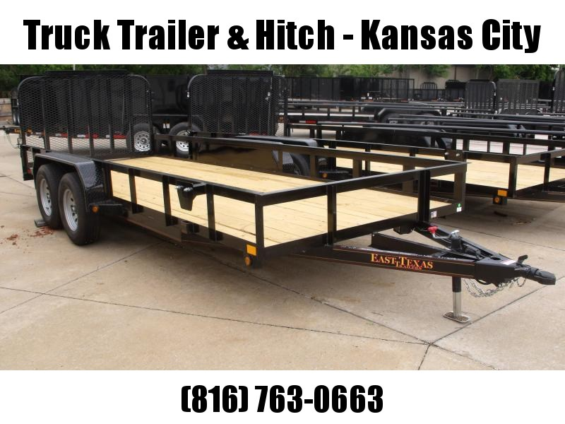 77 X 18 Utility Trailer Flat Deck Heavy Duty Tube Gate  4 WL Brakes 7000 GVW