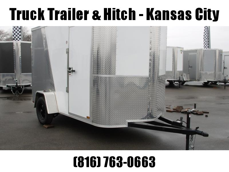 """Enclosed Trailer 6 X 10 Ramp 6' 6"""" Interior Two Tone In Color White Front  /  Silver Mist Rear  All Tube Construction"""