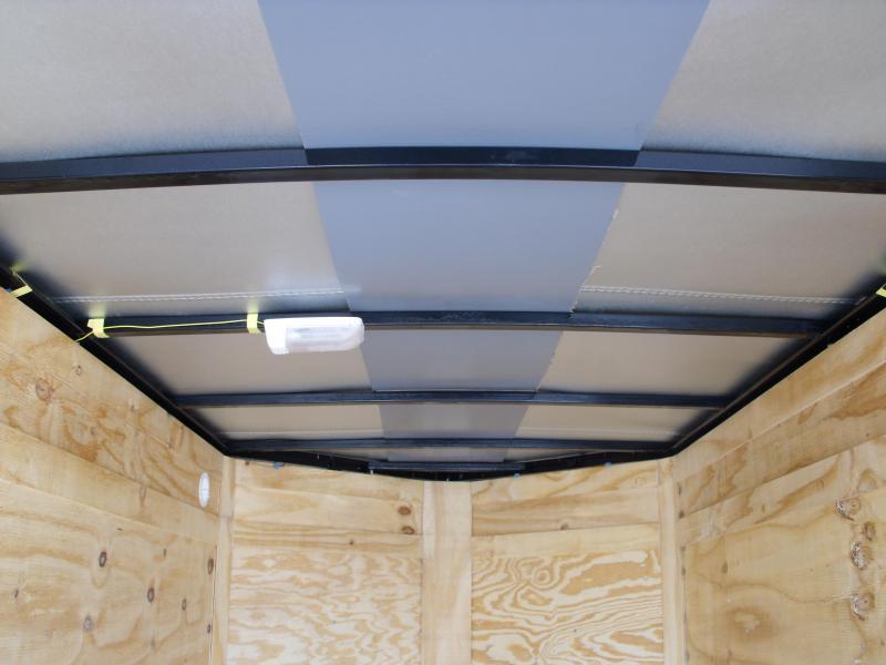 Enclosed Trailer 5 x 8 Enclosed Cargo Trailer Ramp  White  In Color