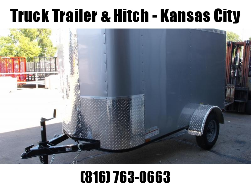 """Enclosed Trailer For The Smaller Vehicles  4 X 8 Barn Door 4'6""""  Interior"""