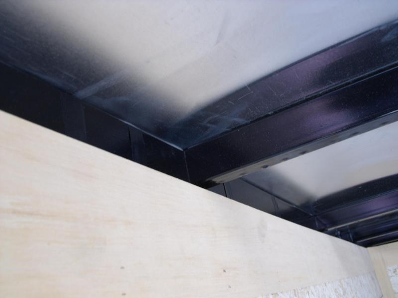 Enclosed Trailer 5 x 8  Ramp 5'  Interior Black In Color