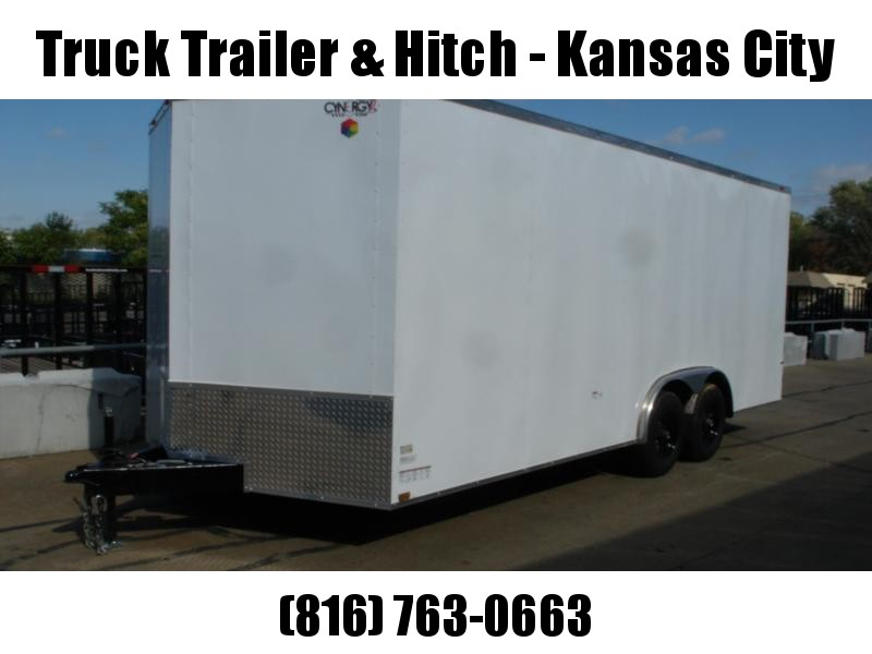 Enclosed  Trailer  8.5 x 20  Ramp 7' Interior White In Color Ramp Dove Tail  9990 GVWR