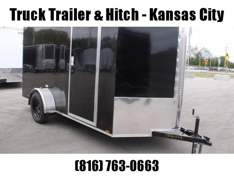 "Enclosed Trailer 6 X 12 Ramp  6' 5""  Interior BLACK  In Color  All Tube Construction"