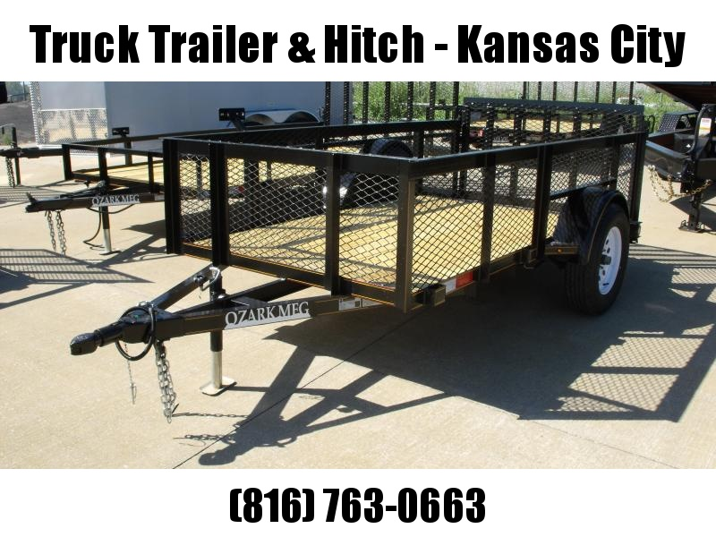 """Utility Trailer 5 X 10 High-Wall 24 """" Mesh Sides  Dove Tail 2990 Axle"""
