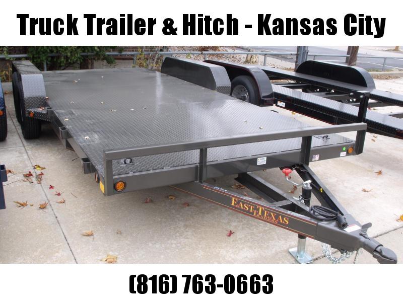 83 X 18 Dove  Metal Deck Car Hauler 7000 GVW 1 Axle  Brakes Ramps Charcoal Gray   In Color