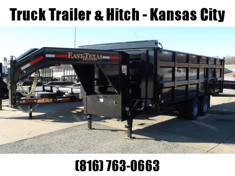 Gooseneck Dump Trailer 8 X 20 Hi-Wall 4' 22500 GVW  20000 Inverted Scissor Hoist Spreader Gate Combo