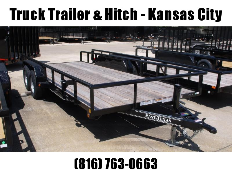 Utility Trailer 83 X 18 Pipe Rail Top Slide Out Ramps