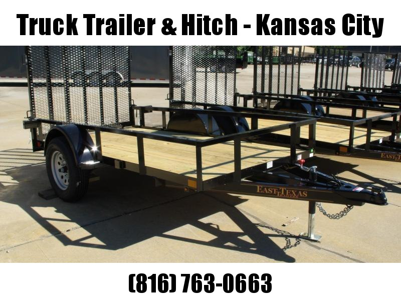 Utility Trailer 5 X 10 Spring Assisted Ramp 2990 Axle Black In Color