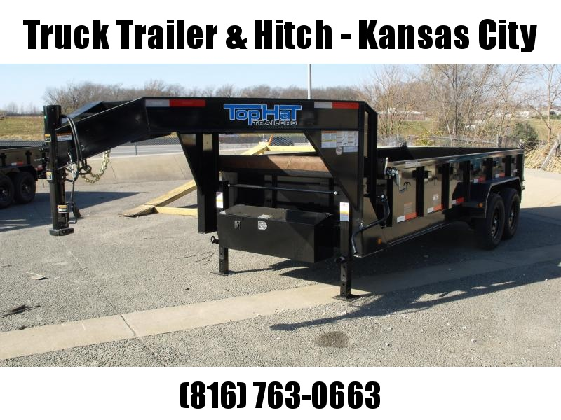 Goose Neck Dump Trailer 83 X 16  Power Up/ Power Down    14000 GVW   Dump Trailer