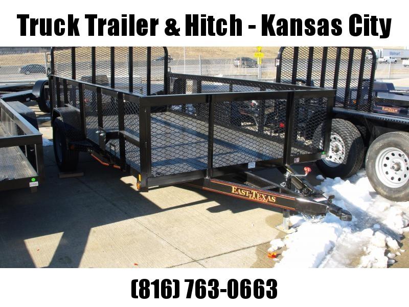 High-Wall Landscape Trailer 77 X 12 Metal Deck Spring Assisted Gate  Black  In Color