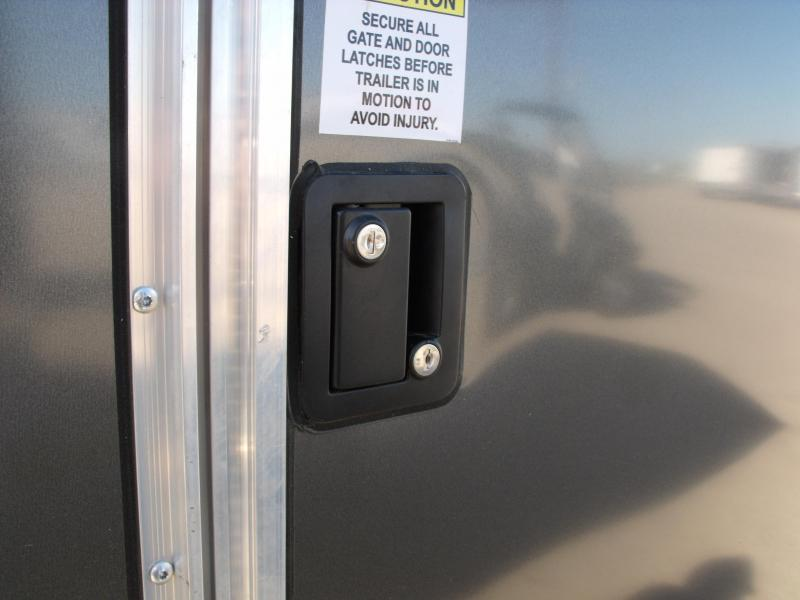 Enclosed Trailer 8.5 X 18  Ramp 7' InteriorTwo Tone Charcoal Frt/Silver Mist Rear In Color Ramp Door  9990  GVWR