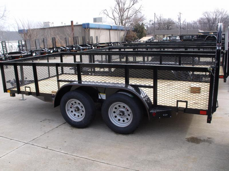 High-Wall  Landscape Trailer 83 X 18  Ramp 7000 GVW