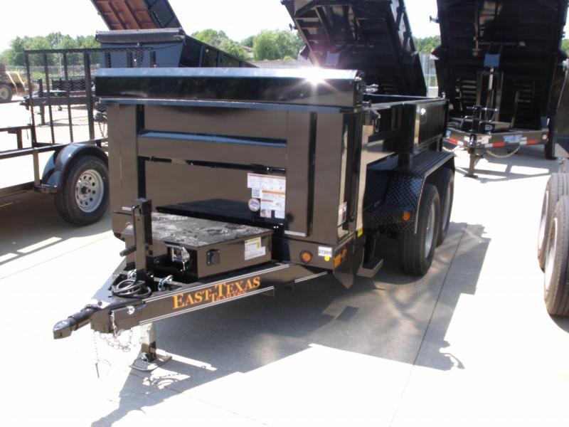 Dump Trailer 5 X 10  Spreader Gate 7000 GVW  ((Tarp Included ))4 Wheel Brakes