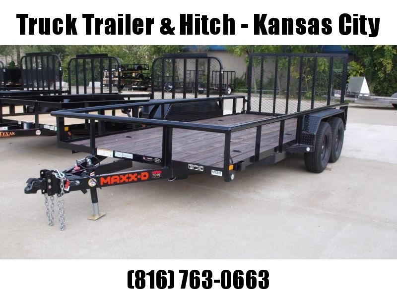 """Utility Trailer Pipe Rail Top  83"""" X 16' Spring Assisted Ramp"""