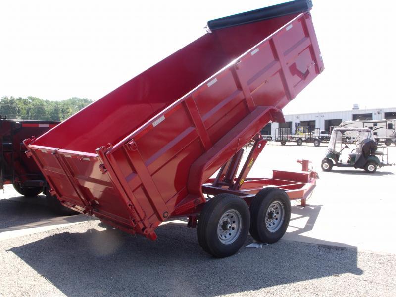 Dump Trailer  83 X 14  I-Beam Type 14000 Gvw Tarp Included 20K Inverted Scissor Hoist Candy Apple Red