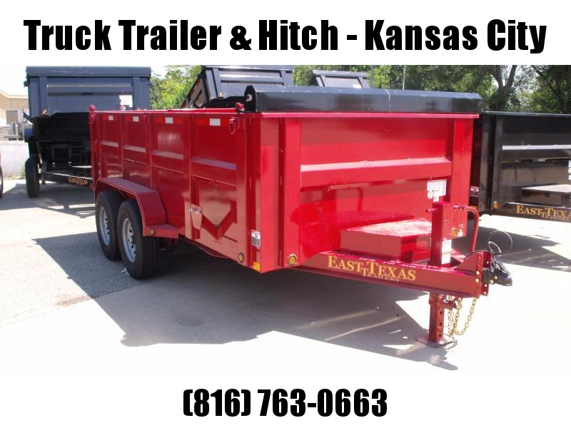 Dump Trailer  83 X 14  I-Beam Type 14000 Gvw Tarp Included 20K Inverted Scissor Hoist Candy Apple Red