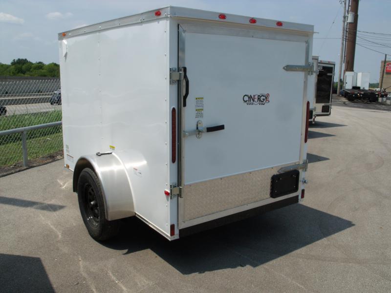 Enclosed Trailer 5 x 8 Enclosed Cargo Trailer BARN DOOR  White  In Color