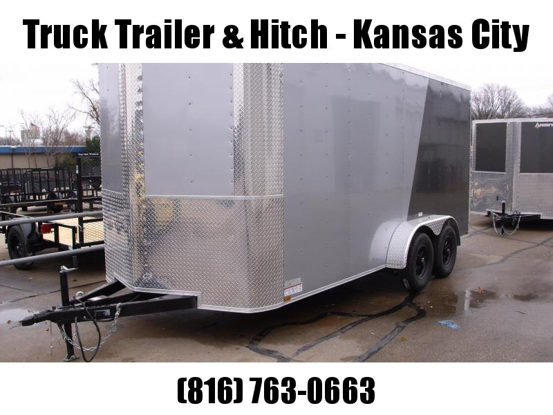 Enclosed Trailer 7 X 16 Ramp 7' Height TWO Tone Silver Mist / Charcoal 7000 GVW ALL Tube Construction 4 WL Brakes