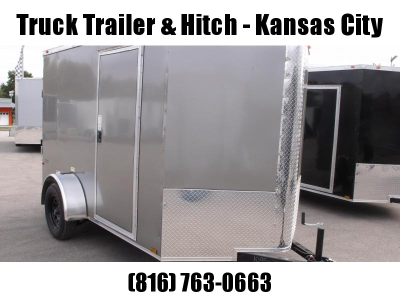 """Enclosed Trailer 6 X 10 Ramp  6' 5""""  Interior   Silver Mist In Color  All Tube Construction"""