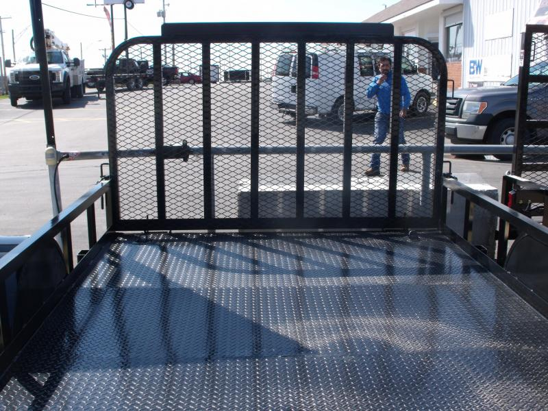 Premium Utility 83 X 12 Metal Deck Spring Assist  Gate LED's