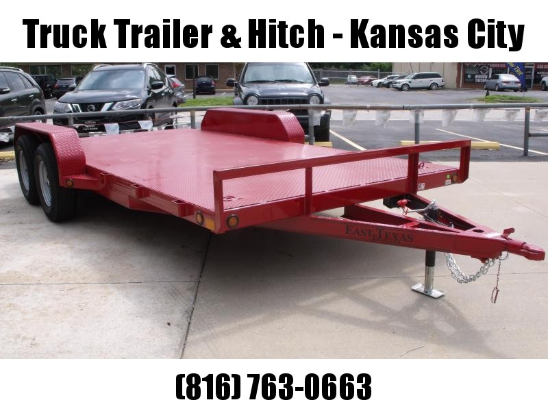 83 X 16 Dove  Metal Deck Car Hauler 7000 GVW 4 WL Brakes Ramps Red In Color