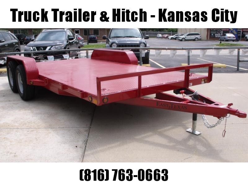 83 X 16 Dove  Metal Deck Car Hauler 7000 GVW 4 WL Brakes Ramps Red In Color