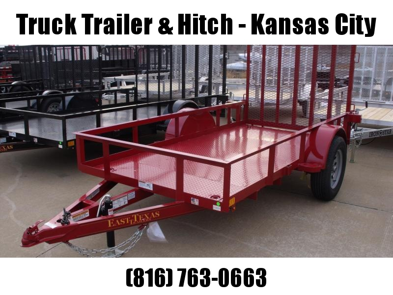 Utility Trailer 5 x 10 RED IN COLOR  Steel Deck Spring Assisted Ramp  2990 # Axle