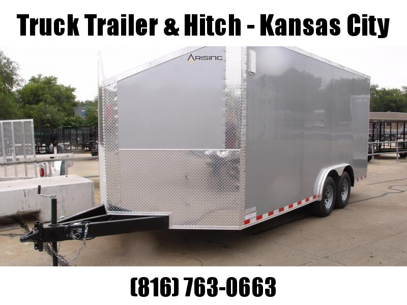 Enclosed Trailer Wedge Nose  8.5 X 18 Dove Tail  Ramp 7' Interior Height   Silver Mist  In Color ALL Tube Construction
