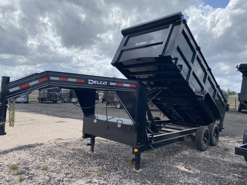 2021 Delco Trailers Gooseneck 16ft Dump w/ 4ft walls Trailer