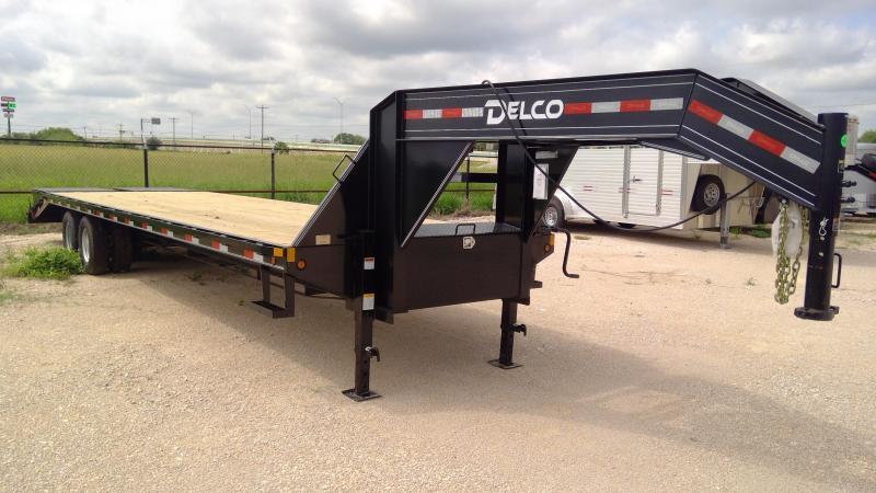 2021 Delco Trailers 102x32 Flatbed Trailer