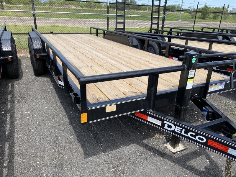 2021 Delco Trailers 83x20 pipe top 14k Equipment Trailer