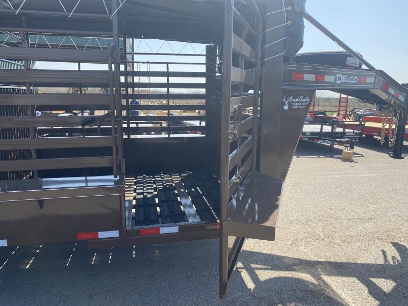 2021 Delco Trailers 6.8x16 Gooseneck Livestock Trailer
