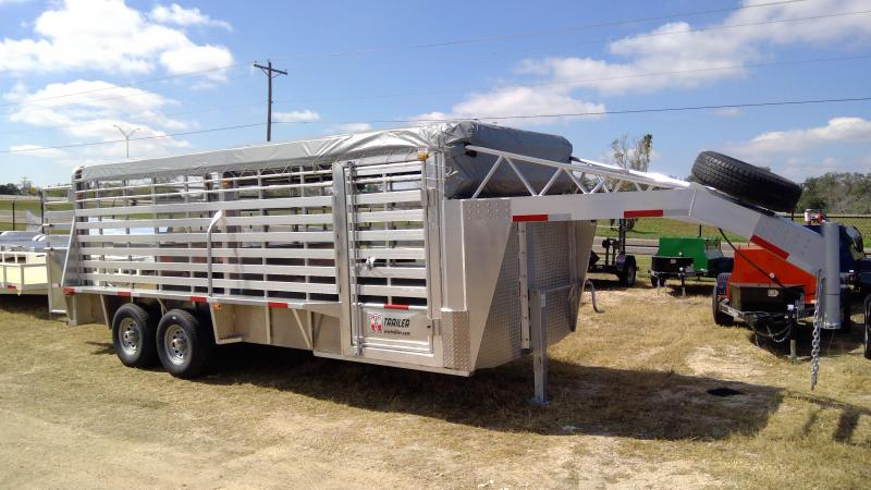2020 W-W Trailer 6.8x20ft Aluminum Livestock Trailer