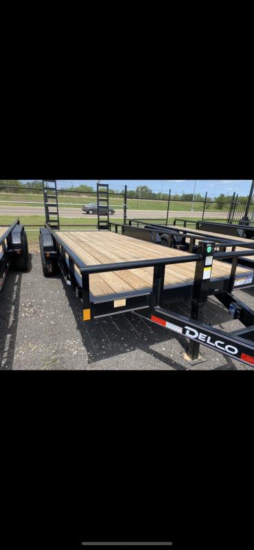 2021 Delco Trailers 83x18ft Equipment Trailer 14k