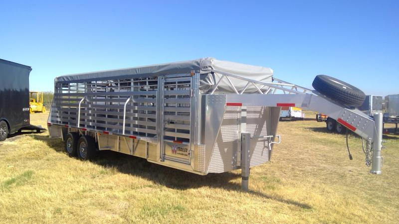2020 W-W Trailer 24ft Aluminum Livestock Trailer