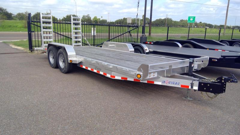 2020 Norstar 20ft Aluminum 14k Equipment Trailer