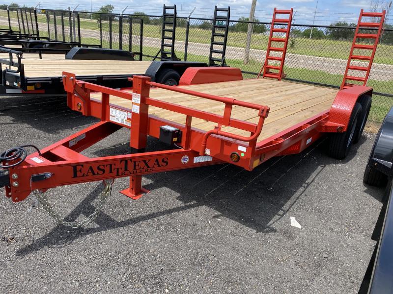2021 East Texas 83x16 Equipment Trailer 14k