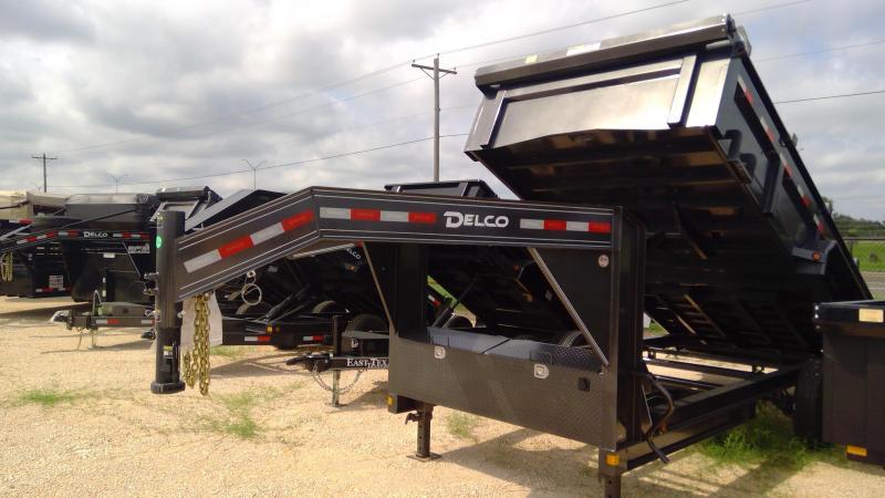 2021 Delco Trailers 16ft Gooseneck Dump Trailer