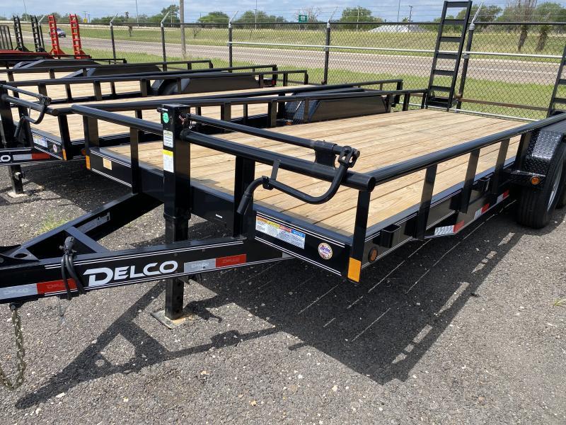 2021 Delco Trailers 83x18 Pipe Top 14k Equipment Trailer