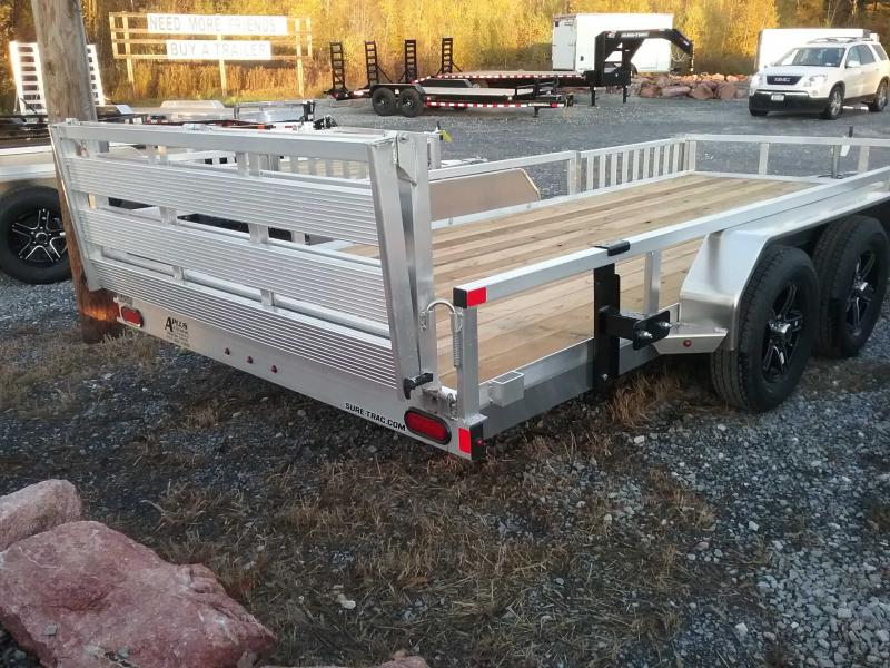 2021 Sure-Trac 82''X16'' ALUMINUM TUBE TOP ATV Utility Trailer