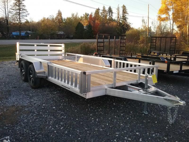2021 Sure-Trac 82''X16 ALUMINUM TUBE TOP ATV Utility Trailer