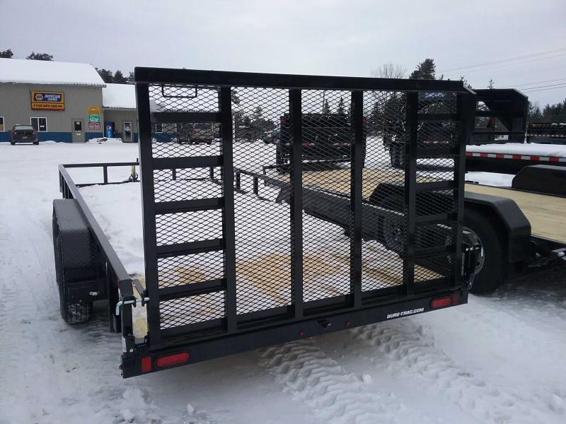 2021 Sure-Trac 7 x 18 Tube Top Utility Trailer  7K Tand
