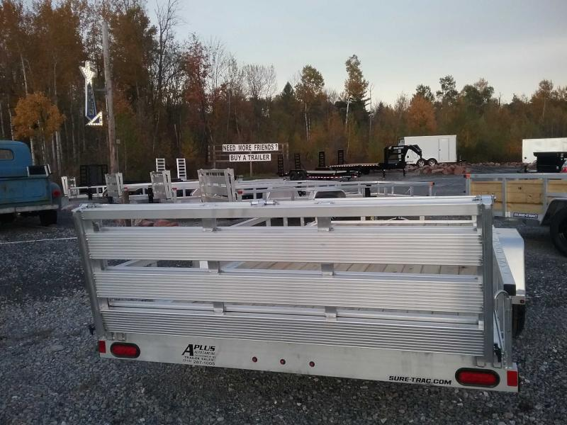 2021 Sure-Trac 82''X14' ALUMINUM TUBE TOP Utility Trailer