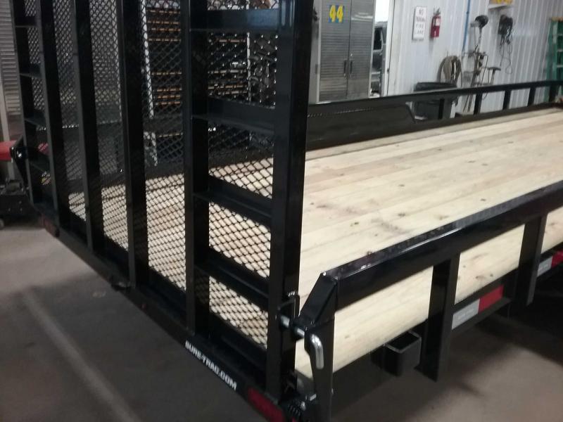 2021 Sure-Trac 7 x 20 Tube Top Utility Trailer  10K Tan