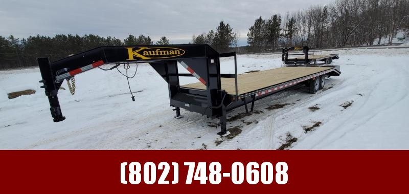 2021 Kaufman Trailers 31' Deckover Gooseneck Deluxe 18k GVW Equipment Trailer