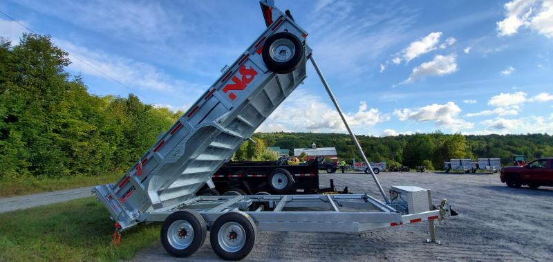 2021 N&N Trailers 7X16 Galvanized  16K LB GVW Dump Trailer 8K AXLES!!!