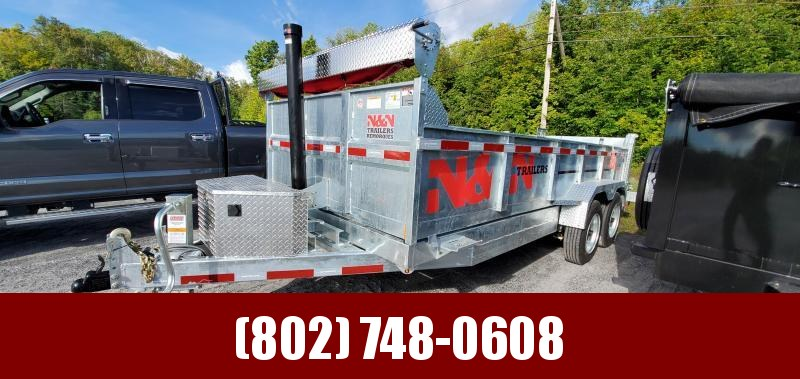 2021 N&N Trailers 7X16 Galvanized  16K LB GVW Dump Trailer 8K AXLES!!!